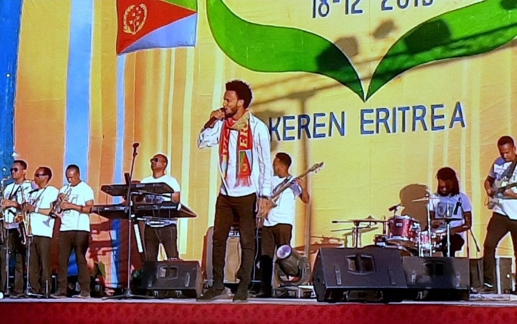 Dawit Tsige Ethiopian balageru idol winner  musical performance in Keren.