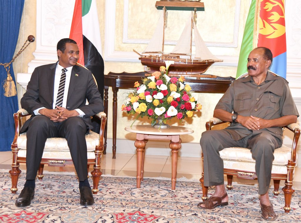 Pr. Isaias received2Sudanese delegation led by the Vice-Chairman of the Sovereign Council2