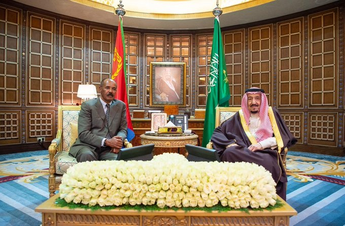 Pr. Isaias & his delegation warmly welcomed by King Salman