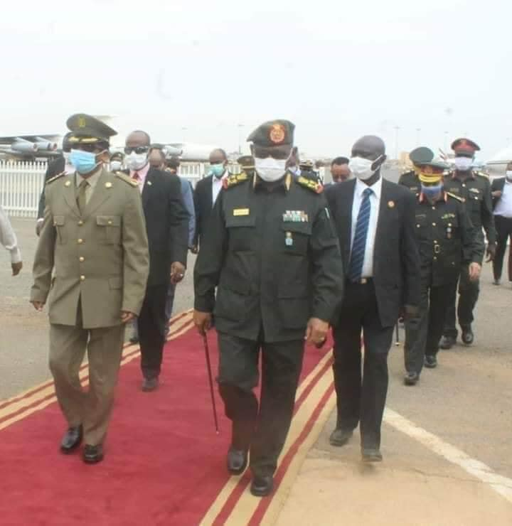 Eritrean Defense Chief of Staff arrived in the Sudanese capital, Khartum today