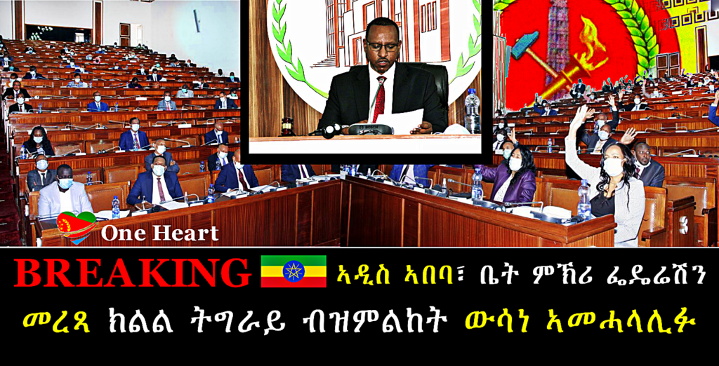 The House Declares Election in Tigray State Unconstitutional, Illegitimate