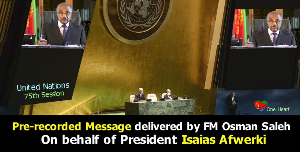 UN: Pre-recorded Message delivered by FM Osman Saleh