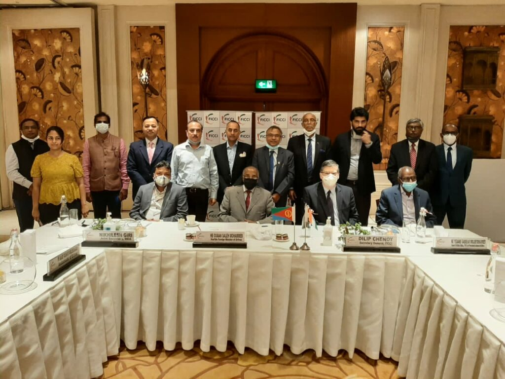 Eritrea's delegation met today Indian Business leaders